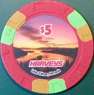 $5 Casino Chip. Harvey's, Lake Tahoe, NV. O59. - Casino