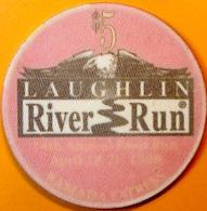 $5 Casino Chip. Ramada Express, Laughlin, NV. River Run 1996. O60. - Casino