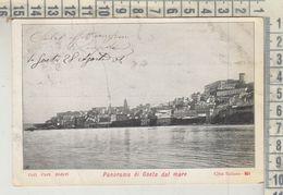 GAETA LATINA PANORAMA DAL MARE 1901 - Latina