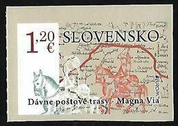"""ESLOVAQUIA /SLOVAKIA /SLOWAKIEN /SLOWAKIJE  - EUROPA 2020 - """"ANCIENT POSTAL ROUTES"""" - SERIE De 1 V. ADHESIVO Del CARNET - Europa-CEPT"""