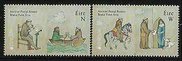 "IRLANDA /IRELAND /IRLAND /EIRE  -EUROPA 2020 -"" ANTIGUAS RUTAS POSTALES - ANCIENT POSTAL ROUTES"" - SERIE De 2 V. - N - Europa-CEPT"