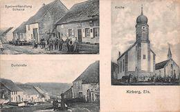KIRRBERG-KIRBERG (67-Bas-Rhin) 3 Vues Eglise - Rue- Commerce - Other Municipalities