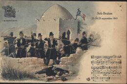 CPA La Sabretache Sidi Brahim Septembre 1845 Chanson Partition Militaria Militaire Algérie - Autres