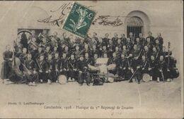 CPA Constantine 1908 Musique 3ème Régiment De Zouaves Photo G Lauffenburger Militaria Algérie Concert Programme - Constantine