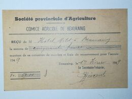 Beauraing / Comice Agricole De Beauraing 1949 - Landbouw