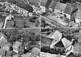 Carte GF-KIRRBERG (67-Bas-Rhin) 3 Vues Village-Café Restaurant-Eglise-Ecole-Mairie - GRAND FORMAT - Other Municipalities