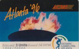 ESTADOS UNIDOS. Olympic Games Atlanta 1996-ACMI. OLYMPIC TORCH. 20000 Ex. ACI-48. (168). - Verenigde Staten