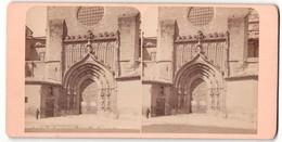 Stereo-Foto Fotograf Unbekannt, Ansicht Murcia, Portal Der Kathedrale - Stereoscoop