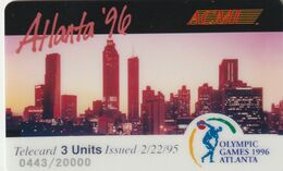 ESTADOS UNIDOS. Olympic Games Atlanta 1996 - ACMI. CITY.  20000 Ex. (164). - Verenigde Staten