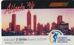 ESTADOS UNIDOS. Olympic Games Atlanta 1996 - ACMI. CITY.  20000 Ex. (164). - Other