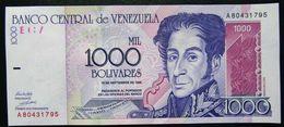 VENEZUELA  1000  1998 UNC - Venezuela