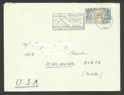 N° 1529 - Seul / Lettre >>> USA / TOULON 20.12.1967 - Marcophilie (Lettres)