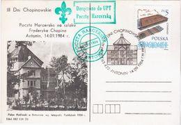 Poland Polska 1964 Palac Mysliwski W Antoninie, III Dni Chopinowskie, Poczta Harcerska Na Szlaku Fryderyka Chopina - Non Classés
