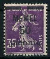 MEMEL 1920 Nr 23a Postfrisch X887DBA - Memelgebiet