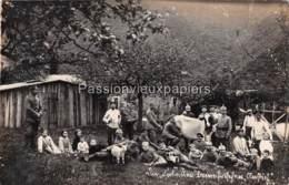 CARTE PHOTO  ALLEMANDE ANCHAMPS 1916  UNE FERME - Frankreich