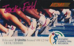 ESTADOS UNIDOS. Olympic Games Atlanta 1996 - ACMI. TRACK+FIELD. 20000 Ex. (165). - Verenigde Staten