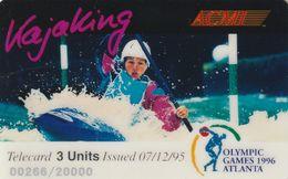 ESTADOS UNIDOS. Olympic Games Atlanta 1996 - ACMI. KAJAKING. 20000 Ex. (166). - Other