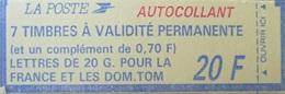 DF40266/2123 - TYPE MARIANNE DE BRIAT - CARNET A COMPOSITION VARIABLE (fermé) - N°1503 TIMBRES NEUFS** - Carnets