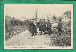 Delle (90) ? Comme N°102&105 - 104. Guerre 1914-15. - DANS L'EST. Nos Troupiers Sur Le Front. 2scans Sabots - Delle