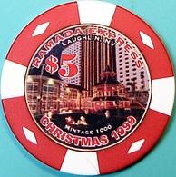 $5 Casino Chip. Ramada Express, Laughlin, NV. Christmas 1999, Only 1000 Made. O61. - Casino