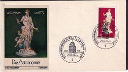 Deutsche Bundespost Berlin  - 1974 - FDC - Porcelane - Die Astronomie - W.C. Meyer - A1RR2 - Sculpture
