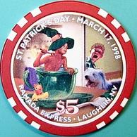 $5 Casino Chip. Ramada Express, Laughlin, NV. St Patrick's Day 1998, Only 2300 Made. O61. - Casino