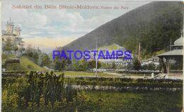 140410 ROMANIA SLANIC MOLDOVA VIEW PARTIAL POSTAL POSTCARD - Romania