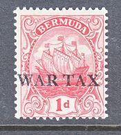BERMUDA   MR 1      *  WAR  TAX  Wmk 3 - Bermuda