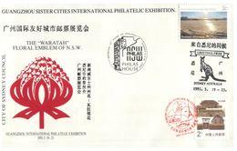 (I 22) Australia - 1991 - Philas (China - Australia Stamps On Cover) Sister Cities - Briefmarkenausstellungen