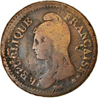 Monnaie, France, Dupré, Decime, AN 5, Paris, TB, Bronze, Gadoury:187, KM:644.1 - France