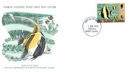 (I 24) WWF Cover (with Info Sheet) - Gilbert Islands - The Moorish Idol (fish) - FDC