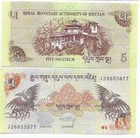 407) BHUTAN 5 NGULTRUM  2015  FDS EURO 0,55 - Bhutan