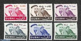 Dubai 1967 Definitives, Falcon 6v, (Mint NH), Birds - Birds Of Prey - Dubai