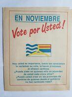 URUGUAY FOLLETO POLITICO SEREGNI PRESIDENTE, 1989, POLITICAL BROCHURE FRENTE AMPLIO - Oude Documenten