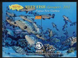 PAPUA NEW GUINEA, 2011 REEF FISH K10 MINISHEET MNH - Papua New Guinea
