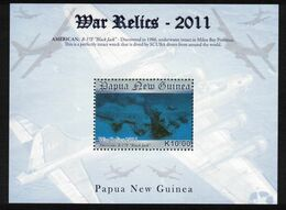 PAPUA NEW GUINEA, 2011 WW2 RELICS K10 MINISHEET MNH - Papua New Guinea