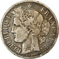 Monnaie, France, Cérès, 2 Francs, 1872, Bordeaux, TB+, Argent, KM:817.2 - France
