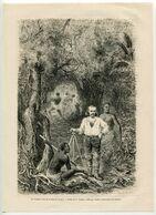 Antique Engraving 1880 Travel Armand Reclus Panama Geodesy Surveyor Level Theodolite Jungle - Prenten & Gravure