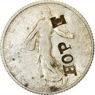 "Monnaie, France, Semeuse, Franc, 1918, Paris, Countermark ""HOPE"", TTB, Argent - France"