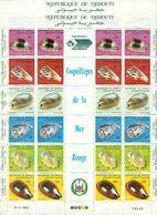 DJIBOUTI N°557 / 562 N(x) En 2 Feuilles De 4 Séries  Cote : 80 € TB. - Djibouti (1977-...)