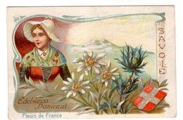 CHROMO Image Fleurs De France Régions BLASON SAVOIE EDELWEISS - Chromos