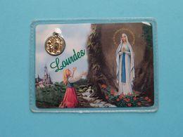 "Medaillon "" LOURDES "" Our Lady Of > Pray For Us ( RELIKWIE - RELIQUIARIO - RELIC - RELIQUARY - RELIQUAIRE ) ! - Religion & Esotericism"