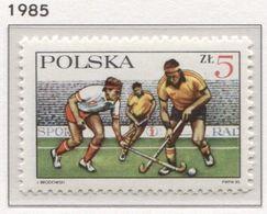 Poland 1985 Mi 2992 Polish Field Hockey Association, Sport MHN** - 1944-.... République
