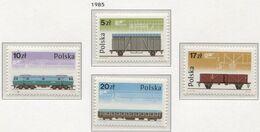 Poland 1985 Mi 2995-98 The Rolling Stock PAFAWAG In Wroclaw, Bombardier Transportation, Train, Locomotive MHN** - 1944-.... République