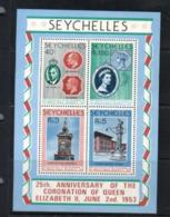 (stamp 14-8-2020) - Seychelles Island (1 Mint Mini-sheet) Queen Elizabeth Coronation Anniversary - Seychelles (1976-...)