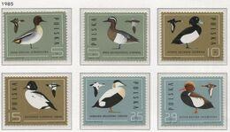 Poland 1985 Mi 3000-05 Birds - Wild Ducks, Animals, Nature, Full Set MHN** - 1944-.... République