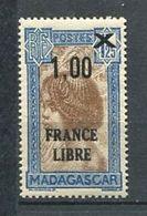 272 - MADAGASCAR 1942 - Yvert 259 - France Libre Surcharge 1,00 Sur 1,25 - Neuf ** (MNH) Sans Trace De Charniere - Unused Stamps