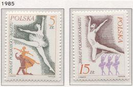 Poland 1985 Mi 3007-08 200 Years Of Polish Ballet, Dance, Art MHN** - 1944-.... République