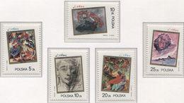 Poland 1985 Mi 3009-13 Stanisław Ignacy Witkiewicz, A Polish Painter, Art, Full Set MHN** - 1944-.... République