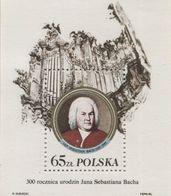 Poland 1985 Mi Bl. 97 II Jan Sebastian Bach, Johann Sebastian Bach, Composer And Musician MHN** - 1944-.... République